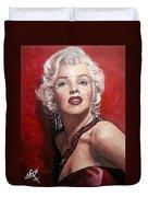 Marilyn Monroe - Red Duvet Cover