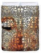 Marilyn Monroe - Stone Rock'd Art Painting Duvet Cover