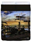 Marina At Dawn Duvet Cover