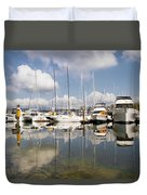 Marina At Granville Island Vancouver Bc Duvet Cover
