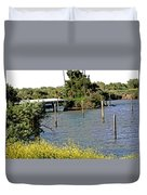 Marina At Miners Slough Duvet Cover