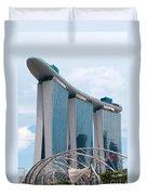 Marina Bay Sands Hotel 01 Duvet Cover