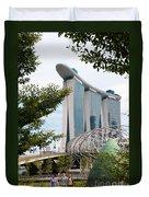 Marina Bay Sands Hotel 02 Duvet Cover