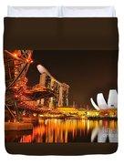 Singapore Cityscape At Marina Bay Sands Duvet Cover