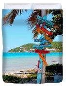 Marina Cay Sign Duvet Cover