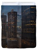 Marina City And A M A Plaza Chicago Duvet Cover