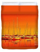 Marina Reflections Duvet Cover