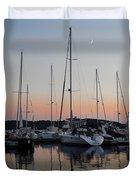 Marina Sunset Afterglow Duvet Cover