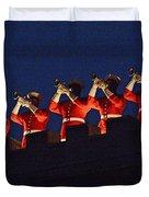 Marine Band At Night Duvet Cover