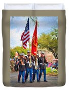 Marine Color Guard - Paint Duvet Cover