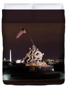 Marine Corps War Memorial Duvet Cover