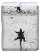 Marine Iguanas Galapagos Duvet Cover