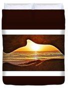 Marineland's Sunrise Dolphin Duvet Cover