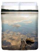 Marion Lake Reflections Duvet Cover