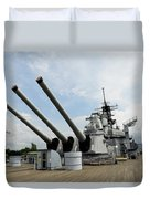 Mark 7 16-inch Gun Barrels On Deck Duvet Cover