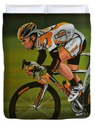 Mark Cavendish Duvet Cover by Paul Meijering