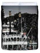 Mark Twain Riverboat Frontierland Disneyland Vertical Sc Duvet Cover