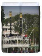 Mark Twain Riverboat Frontierland Disneyland Vertical Duvet Cover