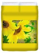Mark Twain's Sunflowers Duvet Cover