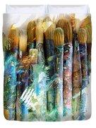 Marker Sketch Of Artist's Brushes Duvet Cover