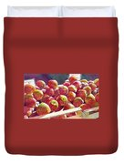 Market Apples Duvet Cover