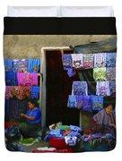 Market At Santiago Atitlan Guatemala Duvet Cover
