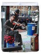 Market Busker 18 Duvet Cover