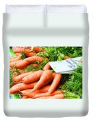 Market Carrots By Diana Sainz Duvet Cover