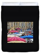 Market Day In Sarlat Duvet Cover