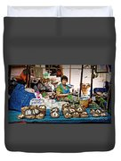 Market Fish Duvet Cover