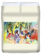Market In Teguise In Lanzarote 03 Duvet Cover