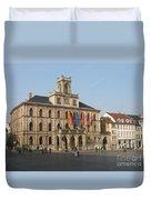 Market Place Weimar - Unesco Heritage Site Duvet Cover
