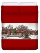 Market Square Christmas - 2013 Duvet Cover