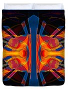 Marking Time Into Space Abstract Spiritual Artwork Duvet Cover