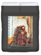 Markos Botsaris Duvet Cover by Jean Leon Gerome