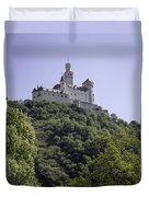 Marksburg Castle 14 Duvet Cover