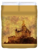 Marksburg Castle In The Rhine River Valley Duvet Cover