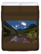 Maroon Bells At Night Duvet Cover