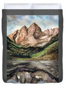 Maroon Bells Colorado - Landscape Duvet Cover