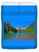 Maroon Bells In Color Duvet Cover