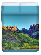 Maroon Bells National Recreation Area Duvet Cover