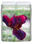Maroon Iris Duvet Cover