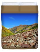 Maroon Valley Duvet Cover