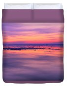 Marquette Sunset On Ice Duvet Cover