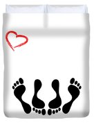 Married Footprints Duvet Cover
