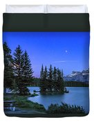 Mars Over Mt. Rundle Duvet Cover
