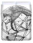 Mars: Schiaparelli, 1877 Duvet Cover