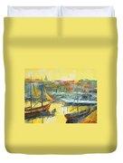 Marseille Harbour Duvet Cover