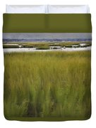 Marsh At Milford Point Duvet Cover