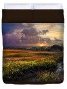Marsh At Sunrise Duvet Cover